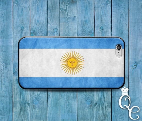 iPhone 4 4s 5 5s 5c SE 6 6s 7 plus iPod Touch 4th 5th 6th Gen Cool Blue White Argentina Flag South America Country Sun Cover Cute Case
