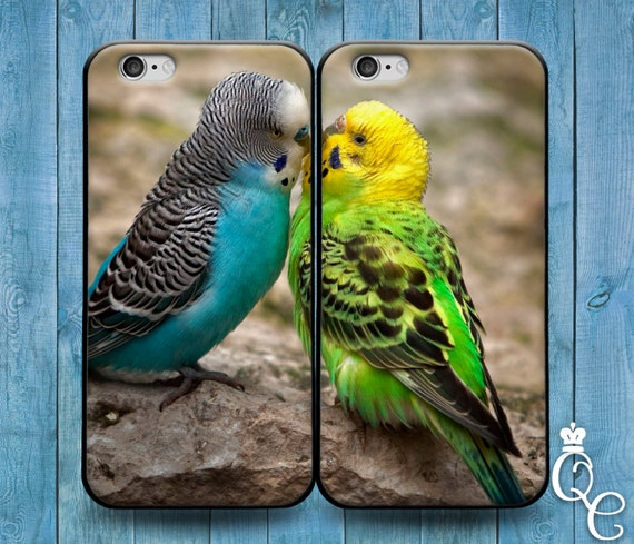 iPhone 4 4s 5 5s 5c SE 6 6s 7 plus iPod Touch 4th 5th 6th Generation Cute Best Friend Couple Bf Gf Kiss Phone Case Funny Bird Parakeet Cover