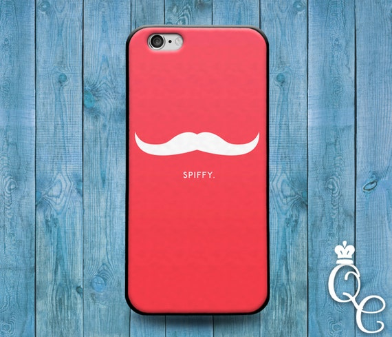iPhone 4 4s 5 5s 5c SE 6 6s 7 plus + iPod Touch 4th 5th 6th Gen Funny Pink Mustache Quote Spiffy Phone Case Cool Cute Fun Custom Hip Cover