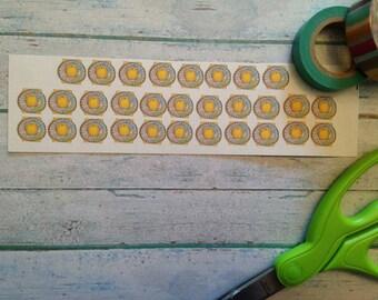 Birth control stickers