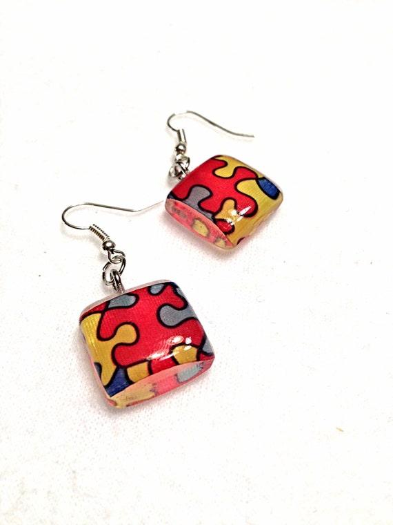 autism awareness autism earrings autism awareness by barysto