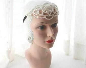 Pearl Bandeau Headband Hair Crown Headchain