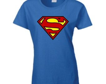 Supergirl Ladies Royal Blue T Shirt