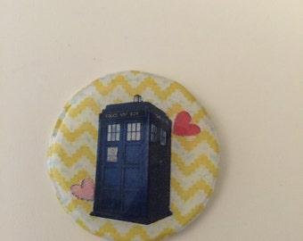 Doctor Who Tardis Pin Handmade