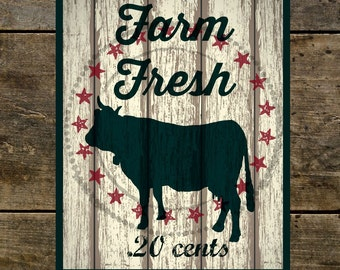 Printable Vintage Country Farm Cow Sign