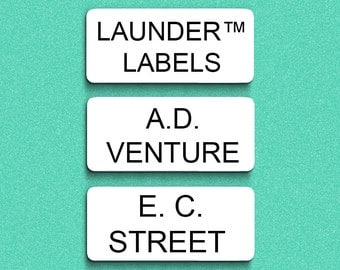 144 Stick On Clothing Labels - Custom Print Personalised LAUNDER™ Labels