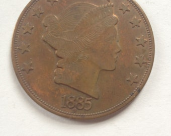 The Giant American Savings Founded 1885 Bronze Token Coin