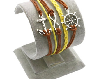 Brown And Yellow Nautical Bracelet