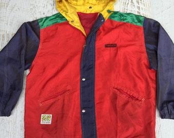 Oversized 90s lightweight windbreaker zip/up jacket