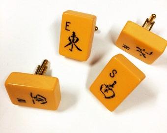 Clearance: Vintage Bakelite Mahjong cufflinks set