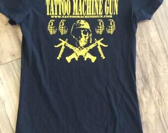 Tattoo Machine Gun Women's Tshirt