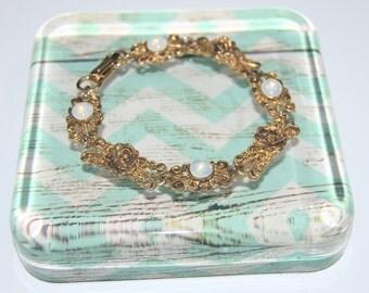 Vintage Florenza Floral Bracelet