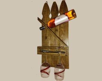 Fence Post Wine Rack