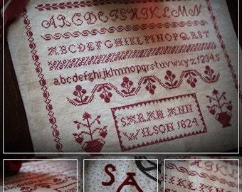 Red Sampler / Cross stitch pattern