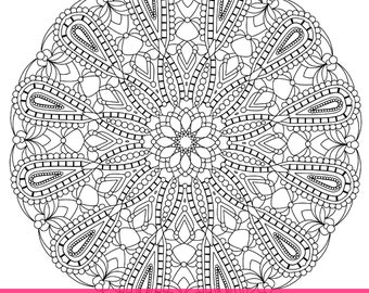 Simple Printable Coloring Pages for Adults Gel Pens Mandala  Detailed Mandala Coloring Pages For Adults