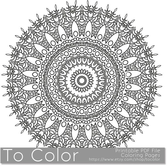 intricate mandala coloring pages - photo#24