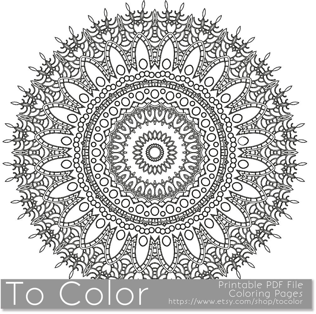 Intricate Printable Coloring Pages for Adults Gel Pens by ...