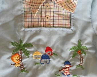 Vintage Baby Clothes, vintage baby boy shirt with collar