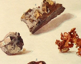 Dazzling Crystals - print for rock lovers, geologists and jewelry lovers