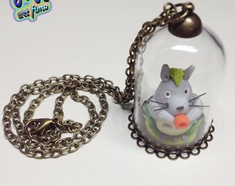 Necklace with glass dome