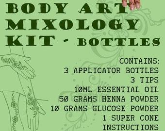 Henna Starter Kit - First timers mixology kit with bottles