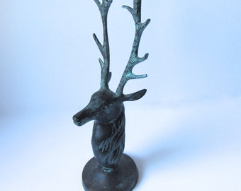Brass Stag Candle Holder