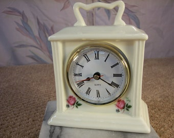 Vintage Porcelain Quartz Clock