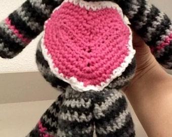 sock monkeys, purses, hat and scarf