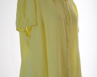 Double collar lemon blouse