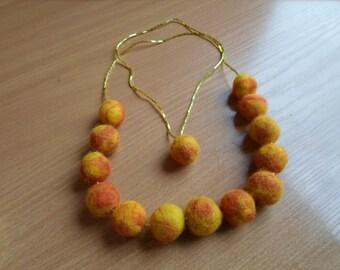 Wool felt necklace