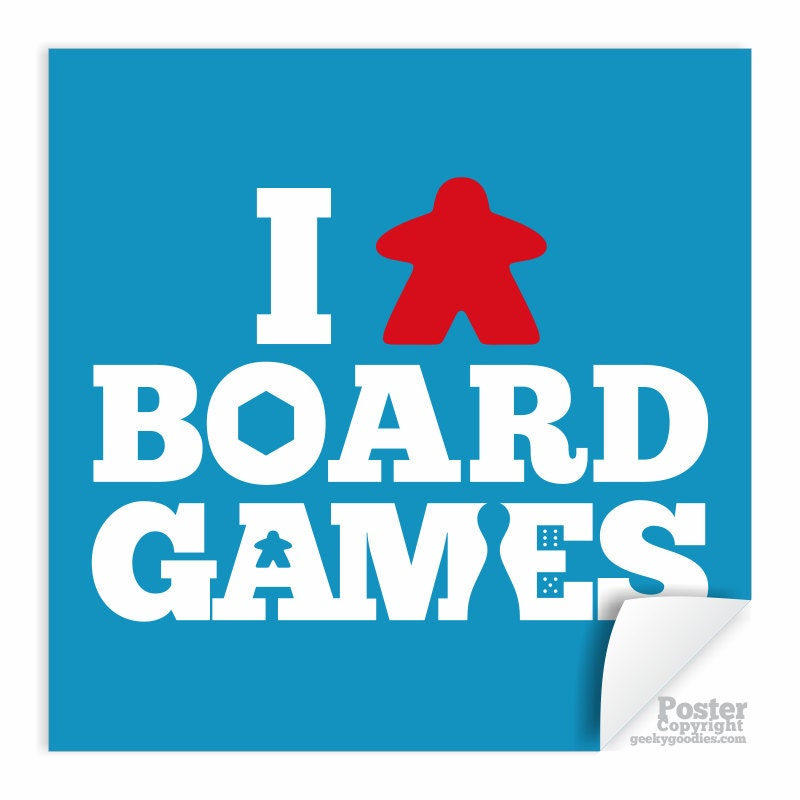 i meeple board games poster i love board games tabletop