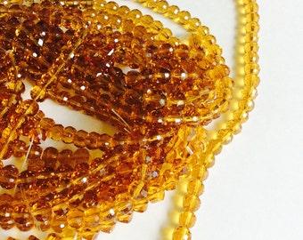 8mm topaz rondelle beads