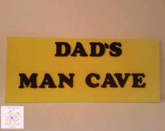Dads man cave large hanging wooden sign