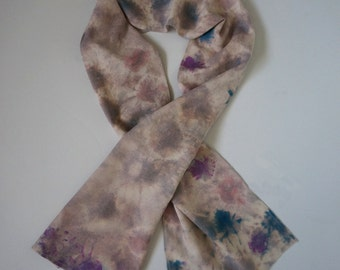 Colorful raw silk scarf