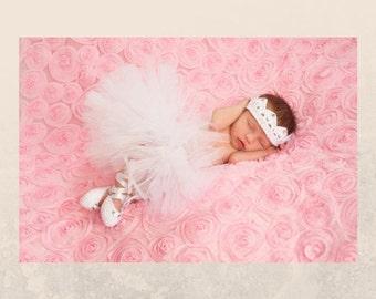 Newborn crown and tutu set