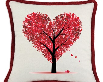 Heart Tree Valentine Pillow