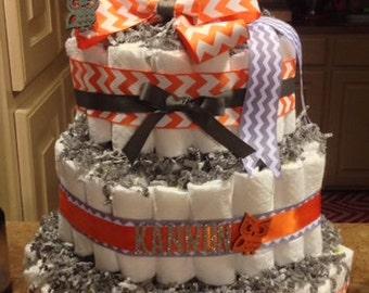 Custom made diaper cake