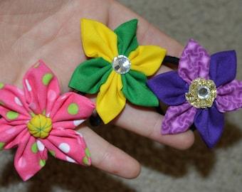 Ponytail Holder Hand Made Flower  Hair Accessory Hair Tie
