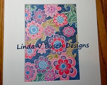 Flower design print