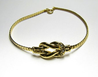 "1990 Avon Loveknot Bracelet - 7"" - NIB"