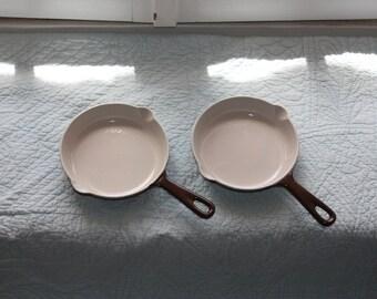 Chocolate brown No.16 Cousance / Le Creuset enamel cast iron cookware   **REDUCED PRICE **