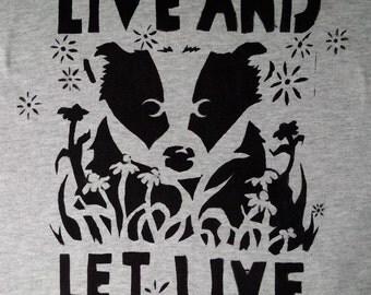 Badger Hand Stencilled T-shirt