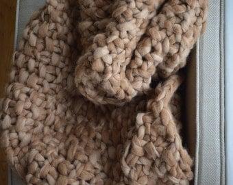 Alpaca Blanket - Chunky Knit Throw - Hand Knitted Blanket - Baby Alpaca Blanket