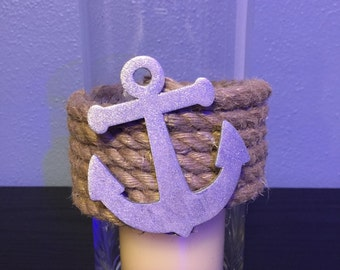 Nautical Vase / Centerpiece / Candleholder. Perfect for Weddings, Bridal Showers or as a Candleholder
