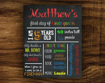 Matthew - Printable First Day of School Chalkboard Sign