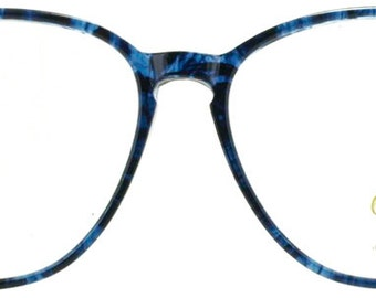 Blue Marble 1980s Plastic Eyeglasses Frames