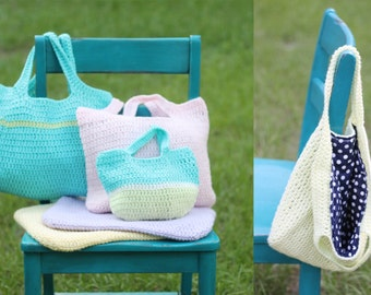Large Crochet Tote