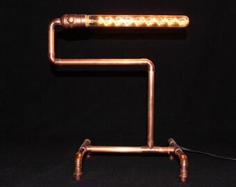 Copper Pipe Lamp Horizontal