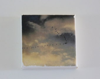 Birds at Sunset Fridge Magnet