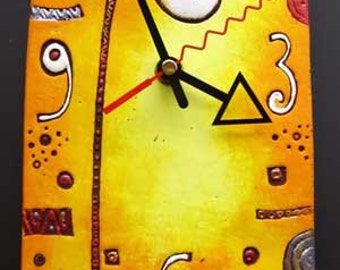 "ceramic wall clock ""Giraffe"""